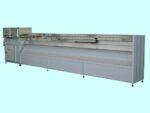 Stazione taglio e saldatura per tende verticali.